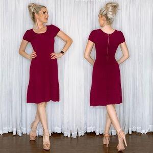 Burgundy Sweater Dress by Julian Taylor